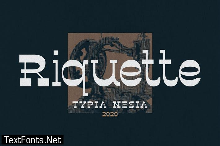 Riquette - Reverse Serif Font