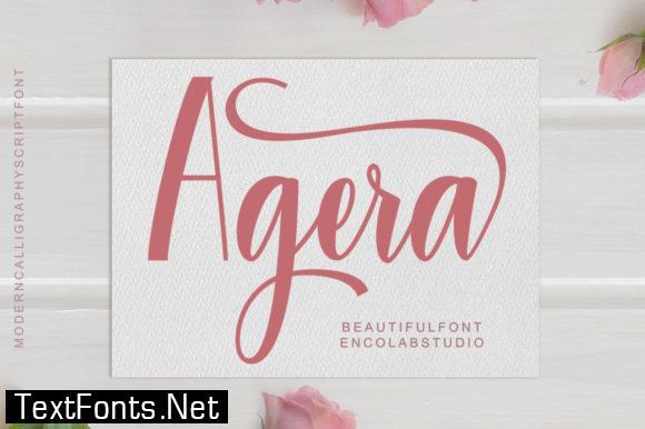 Agera Font