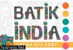 Batik India Font