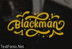Blackman Font