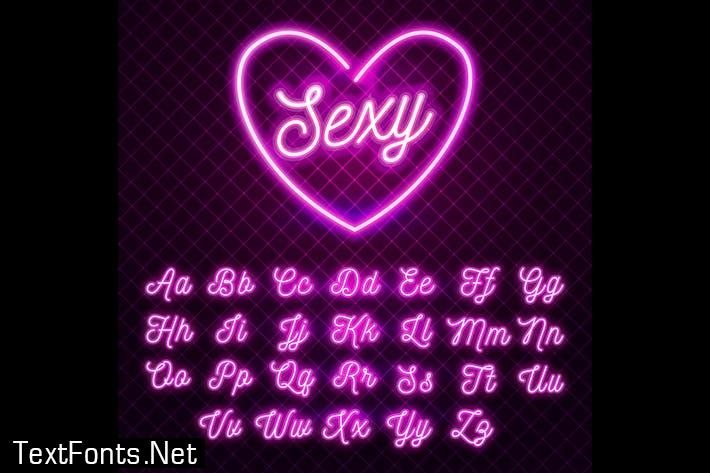Sexy Pink Neon Font
