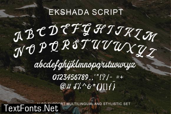 Ekshada Font