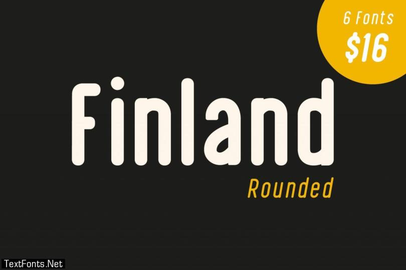 Finland Rounded - Font Family 2918487