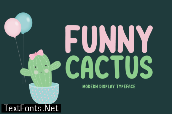 Funny Cactus Font