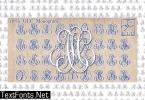 1864 GLC Monogram Family Font