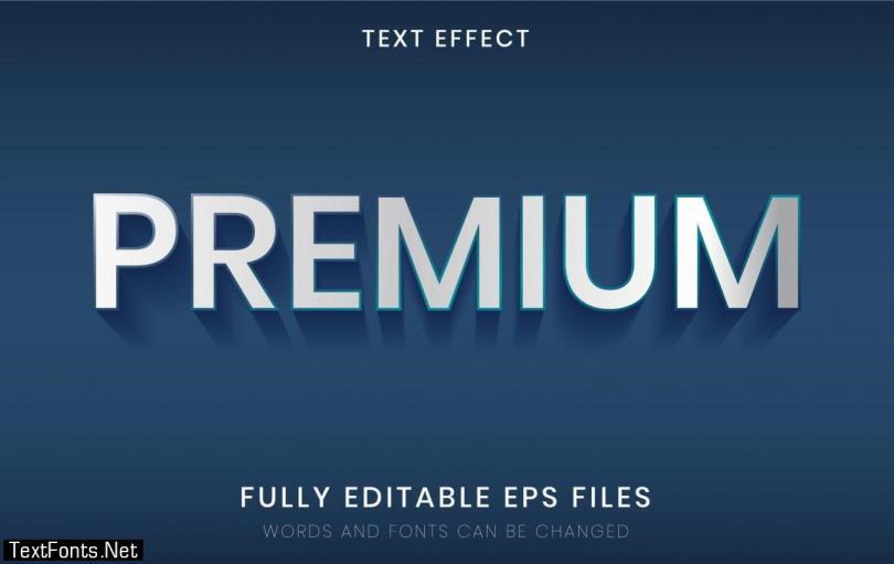 3D Premium Silver Text Effect