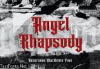 Angel Rhapsody - Blackletter Font
