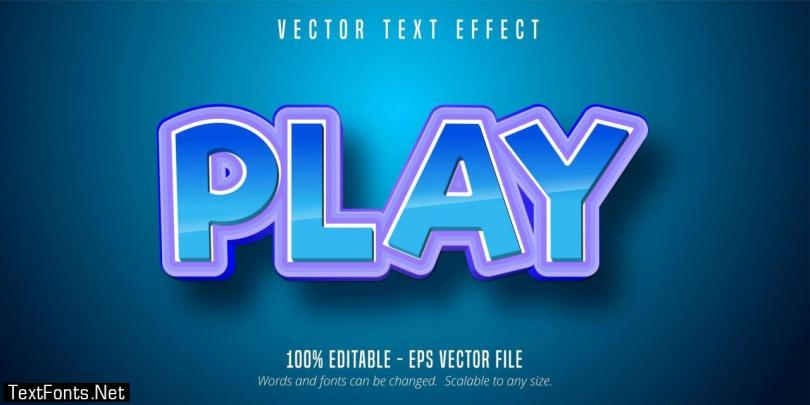 Blue Purple Play Text Effect