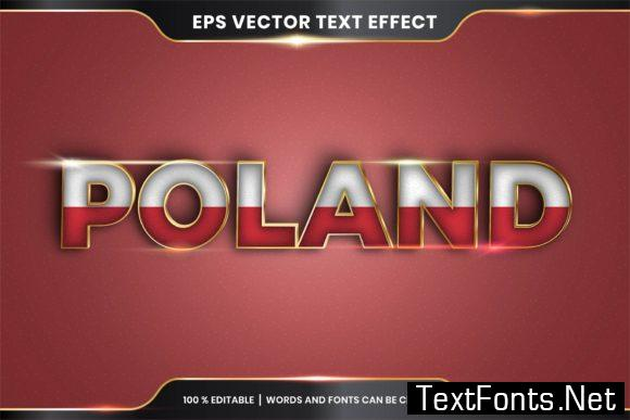 Editable Text Effect - Poland with Flag