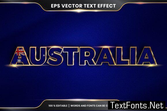 Editable Text Effect Style - Australia