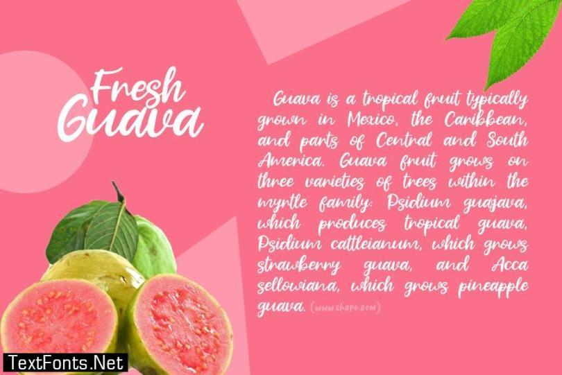 Fresh Guava Font