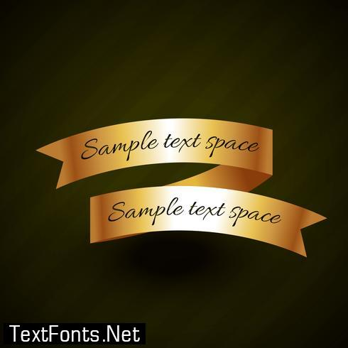 golden ribbon design with space for your text