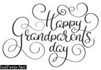 Happy grandparents day text on white background. Hand drawn Calligraphy lettering Vector illustration EPS10