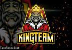 King Team - AI and PSD Esport Logo Template