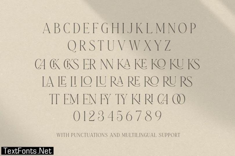 Laterlocks - All Caps Ligature Serif