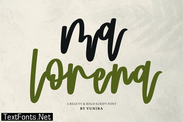 Ma Lorena | A Beauty & Bold Script Font