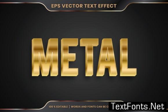 Metal Word, Text Effect Editable Style