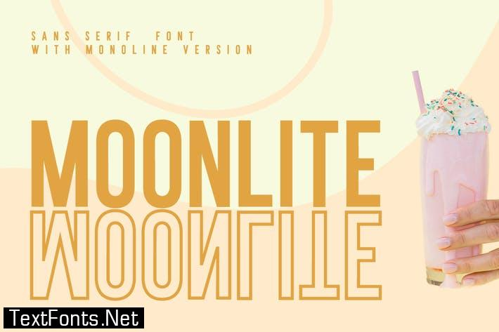 MOONLITE - SOLID & OUTLINE SANS FONTS