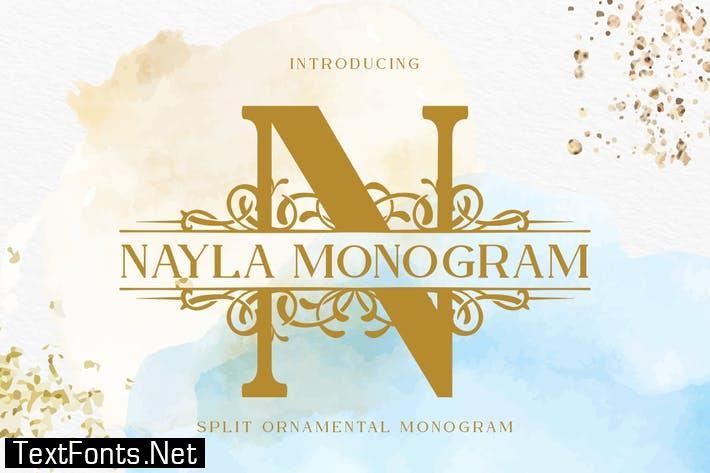 Nayla Split Monogram Font