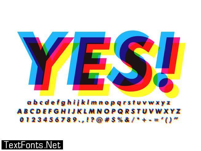 Overprint Colors Text Effect