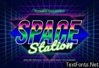 Retro 80s Text Effect in Space Station