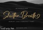 Shutter Braille Script Font