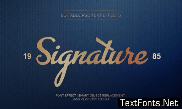Signature Text Effects Style