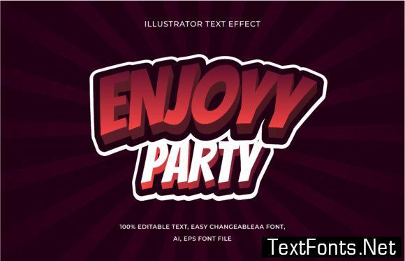 Text Effect Editable - Enjoy Party