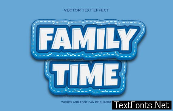 Text Effect Editable -  Family Time
