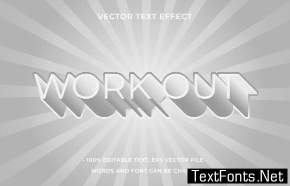 Text Effect Editable - Workout