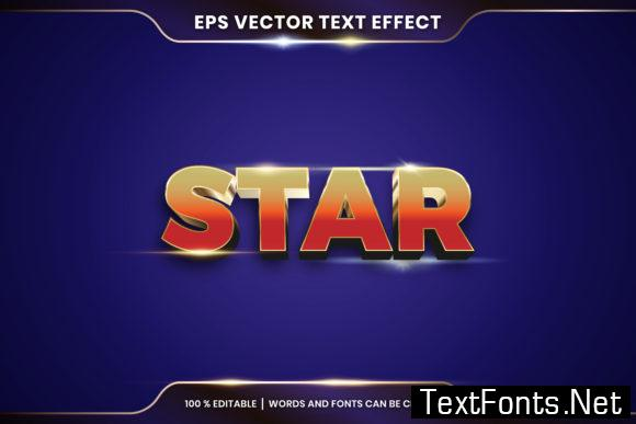 Text Effect in 3D Star Words Text Effect