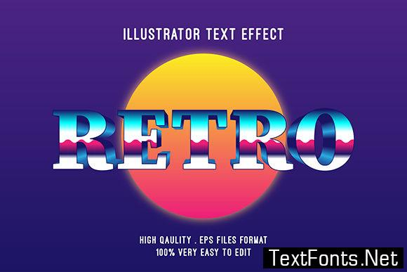 Text Effect - Retro Style Text