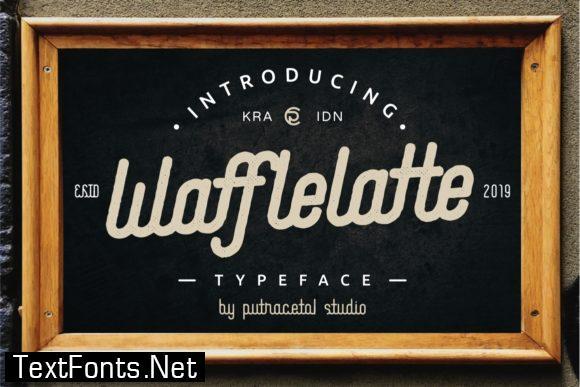 Waffle Latte Family Font