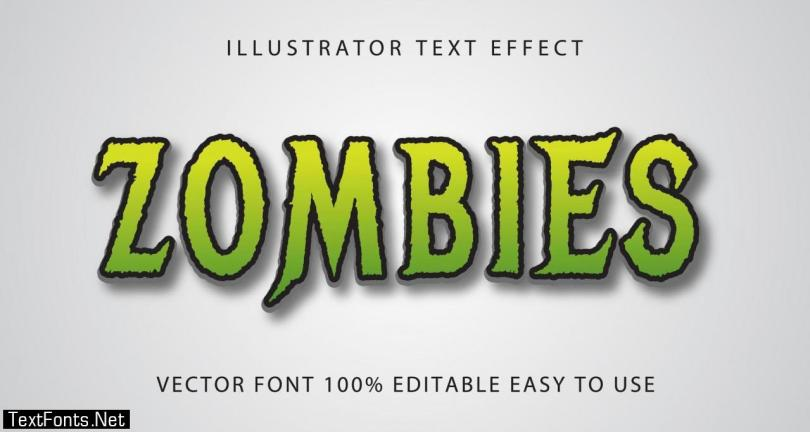 Zombies Green Text Effect