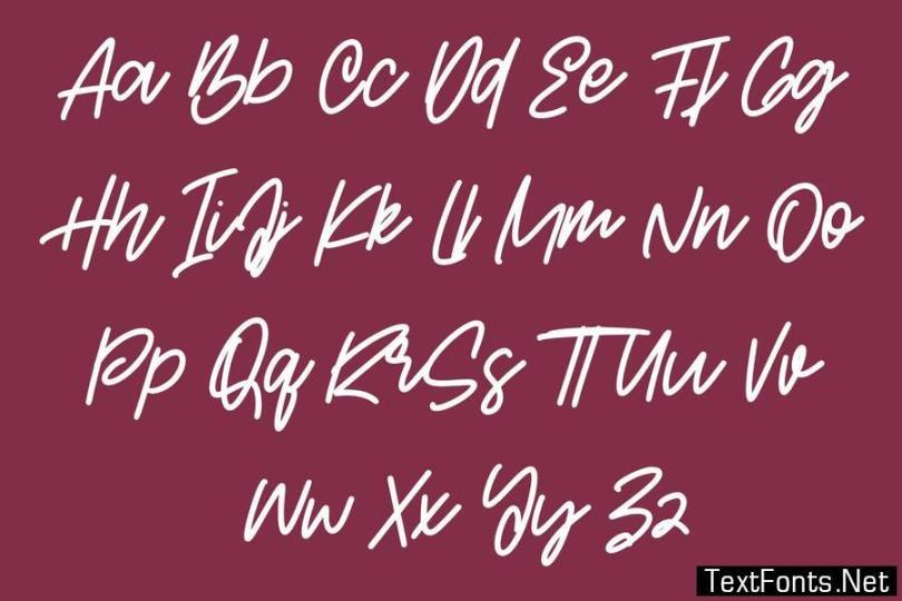 Adicttives Slanted Handwritten Script Font