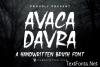 Avaka Davra Font