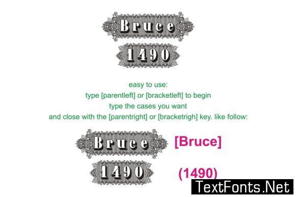 Bruce 1490 Font