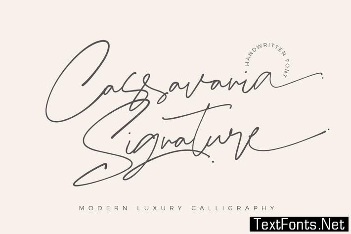 Cassavania Signature Font Elegant