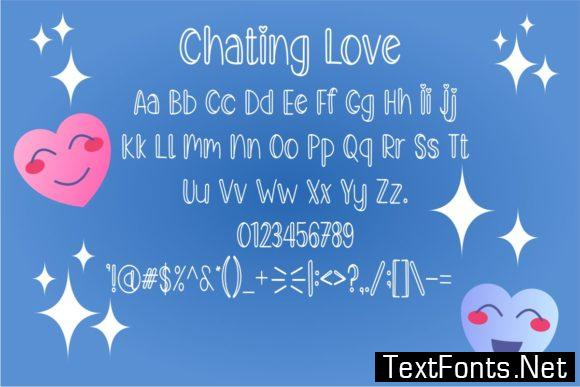 Chating Love Font