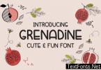 Grenadine Font