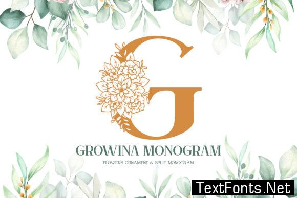 Growina Monogram Font