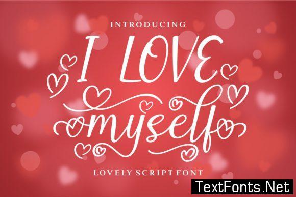 I Love Myself Font
