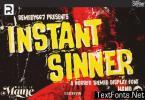 Instant Sinner Font