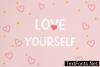 Love Yourself Font
