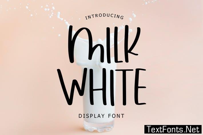 Milk White Display Font