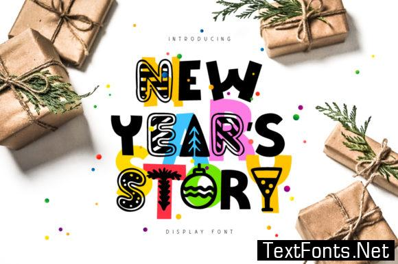 New Year's Story Font