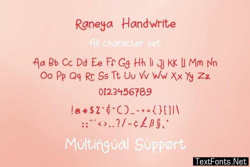 Raneya Girl - Cute Font