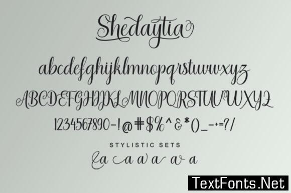 Shedaytia Font