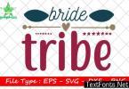 Wedding Quote Design, Bride Tribe
