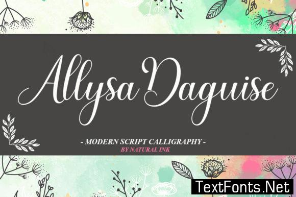 Allysa Daguise Font